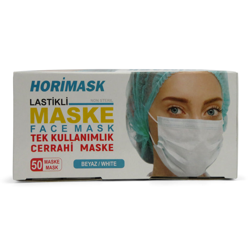HORI 3-ply Disposable Face Masks - Pack of 50