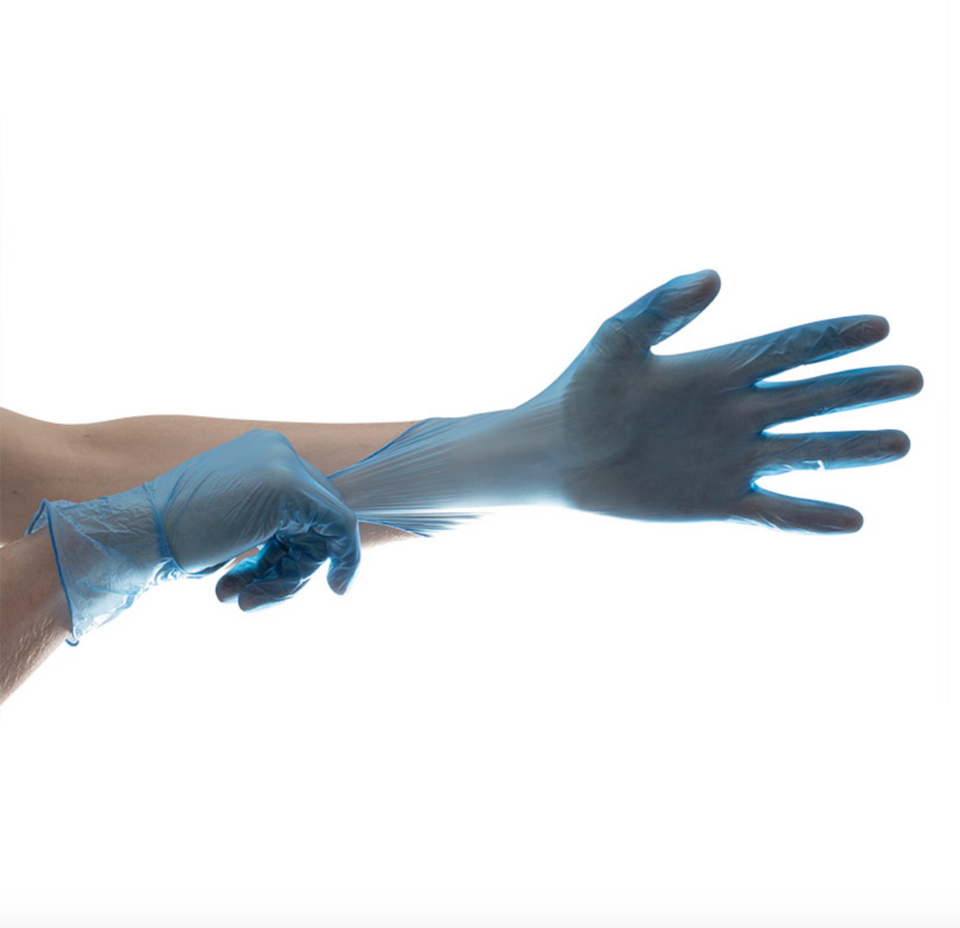 Vinyl Powder-Free Disposable Gloves - box of 100 gloves