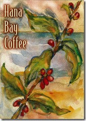 Hana Bay Coffee Label