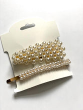 Load image into Gallery viewer, Posh Pearl Hair Clips