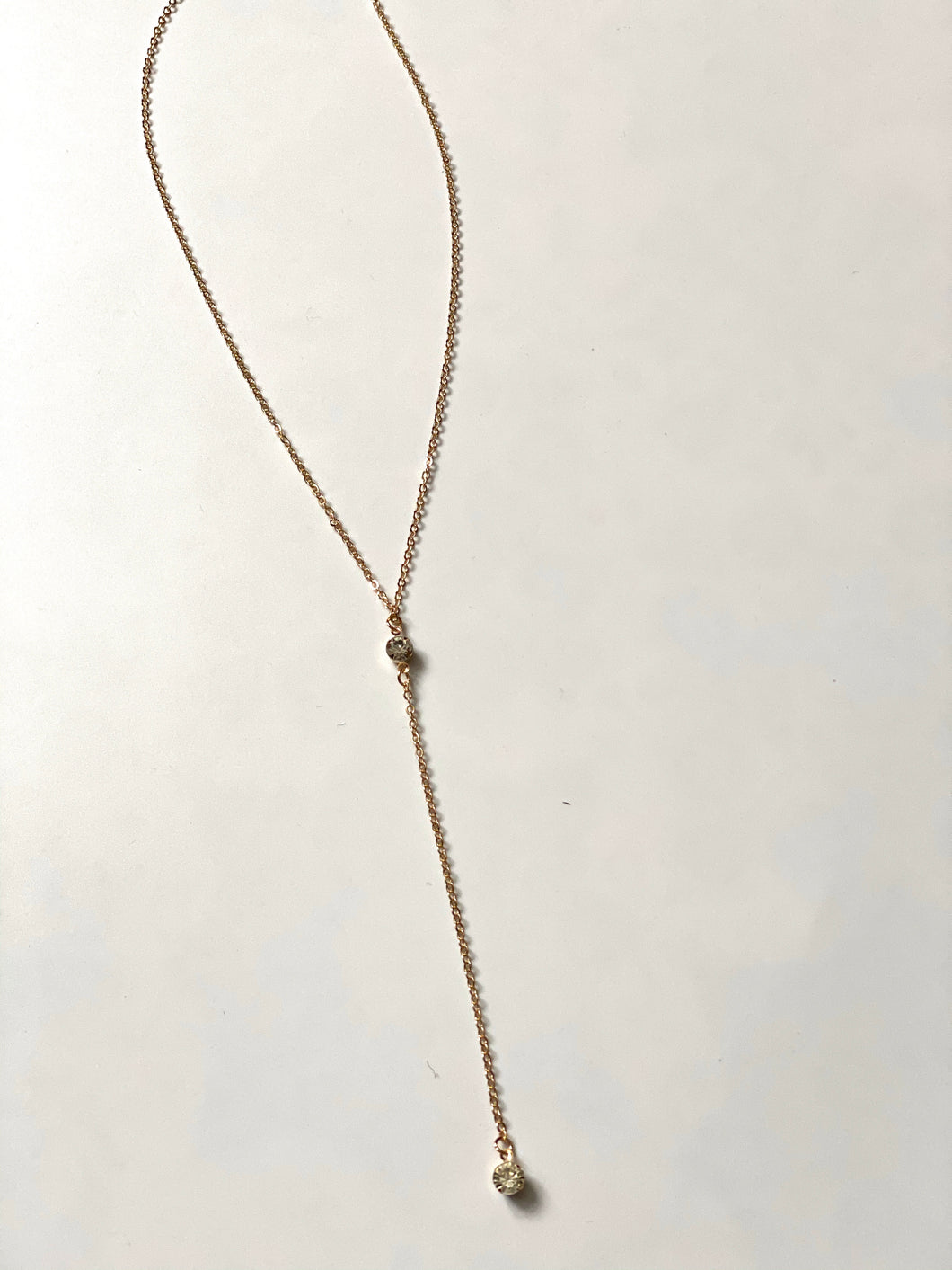 Two Stone Drape Necklace