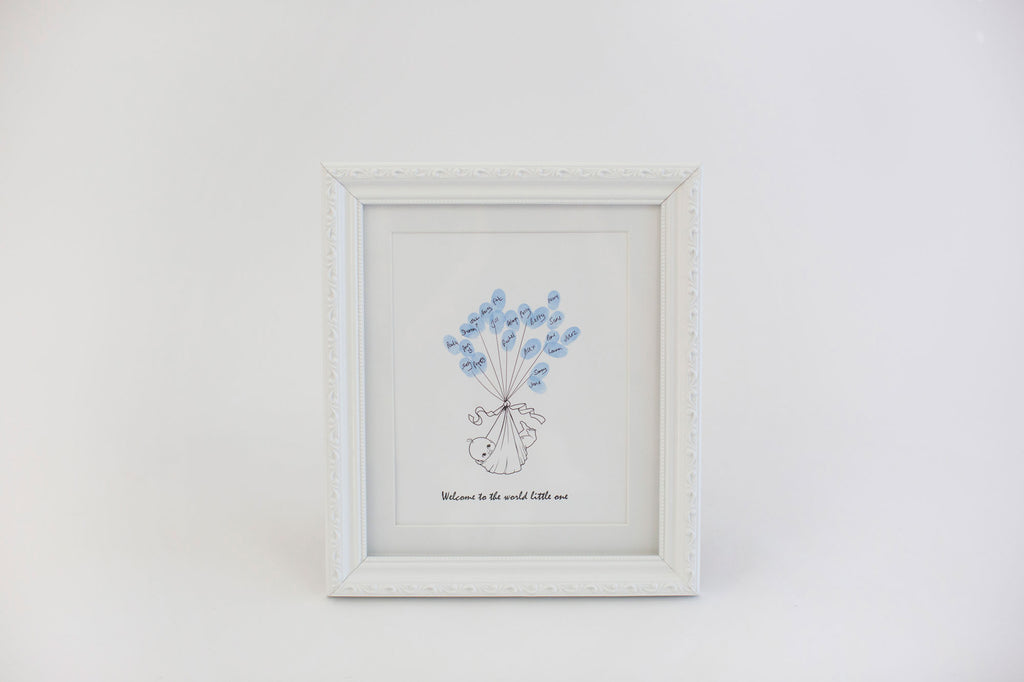 baby-shower-guest-book-framed