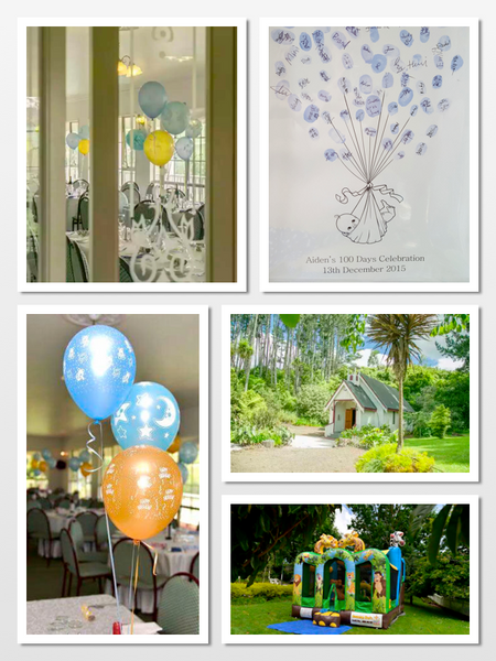 100 day celebration guestbook at Footbridge Lodge