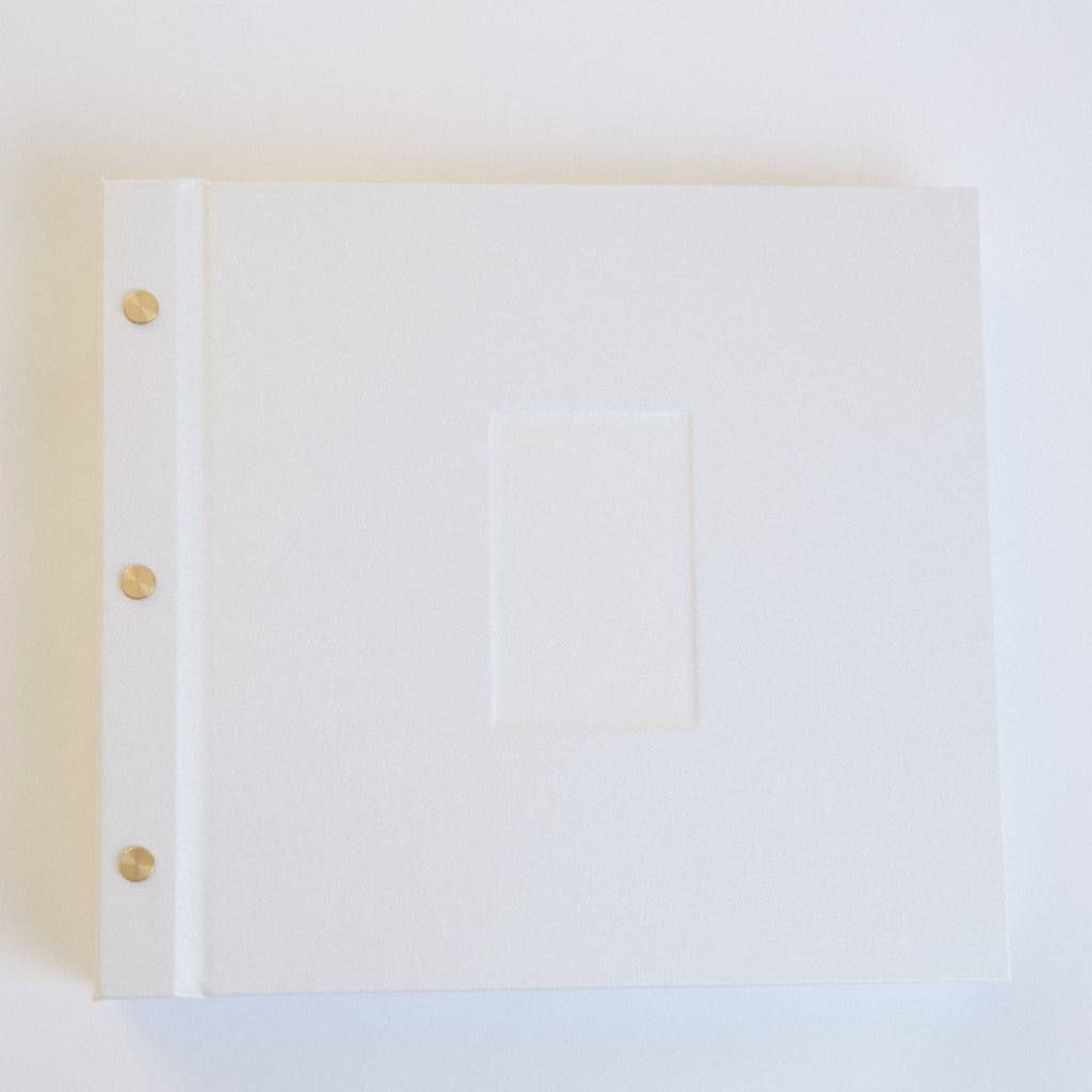 Artisan Book - Instax Instant Photo Guestbook - Pearl White