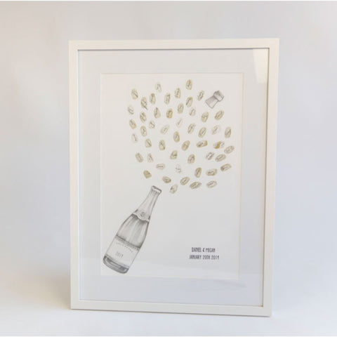Champagne Celebration Fingerprint Guestbook - My Guest Book - 1
