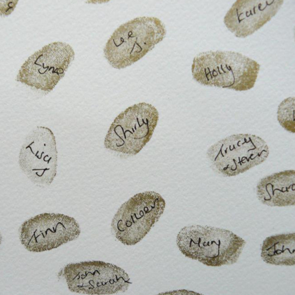 Champagne Celebration Fingerprint Guestbook - My Guest Book - 4