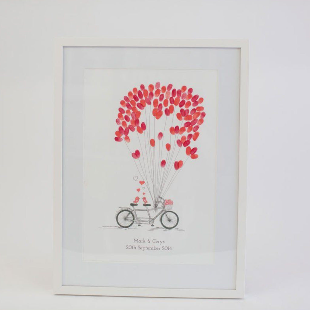 Wedding - Custom Bicycle Wedding Fingerprint Guestbook