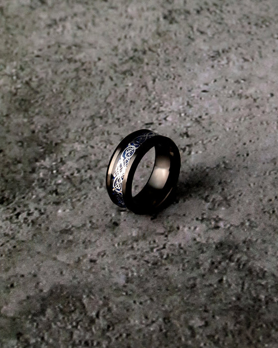 Black and Silver Tungsten Ring