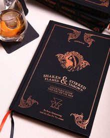 SALE 25% OFF EDV Cocktail Book - Shaken, Stirred, Flamed and Thrown