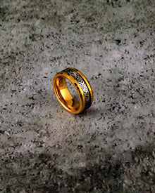 Gold and Black Tungsten Ring