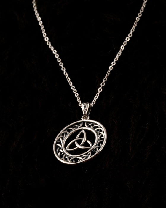 Valknut Silver Chain Necklace - Sterling Silver