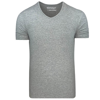 Body Fit V-Neck Grey mêlée - Versteegh Jeans