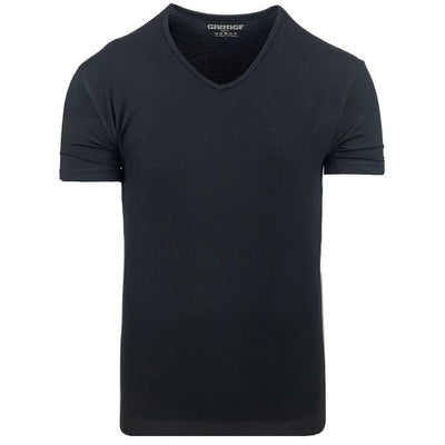 Body Fit V-Neck Black - Versteegh Jeans