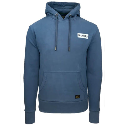2010422a 3kq | cl canvas hood | sweater capuchon blue | superdry | front