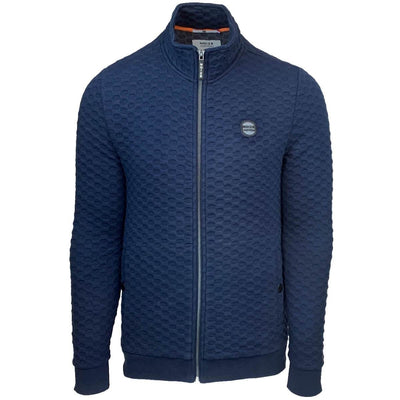 5112105 00 037 | sweat full zip highneck jacquard | navy | noize | front