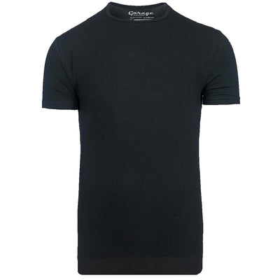 Body Fit O-Neck Black - Versteegh Jeans