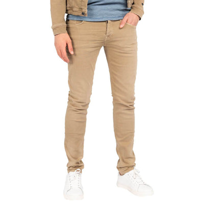 ctr205415 8261 | riser slim colored denim khaki | cast iron | front