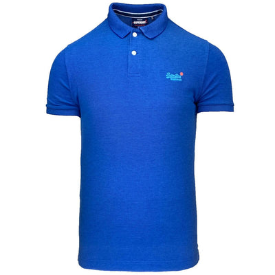 classic pique short sleeve polo shirt | superdry | m1110004a 3fk | front