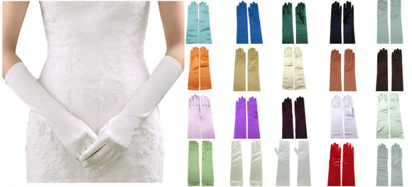 15 inches satin dress bridal gloves