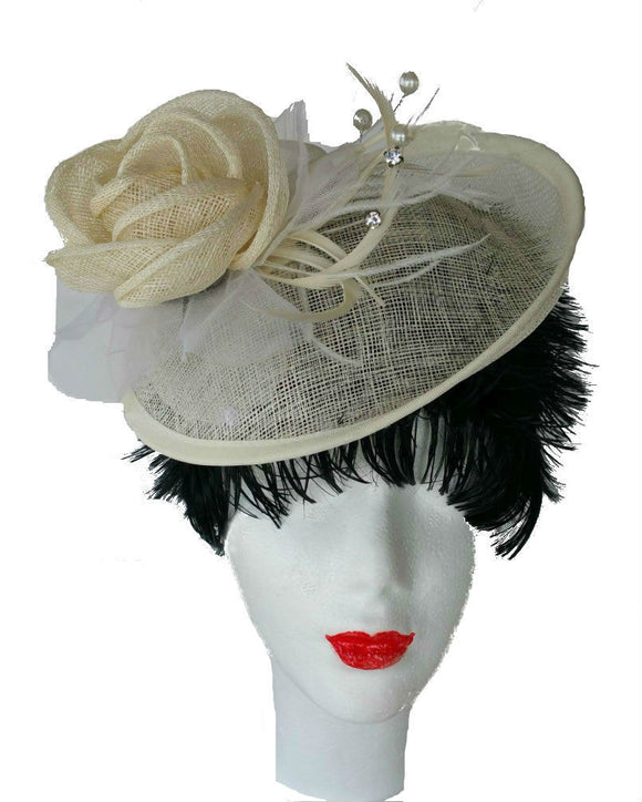 Ivory Occasion Fascinator Hat 1501