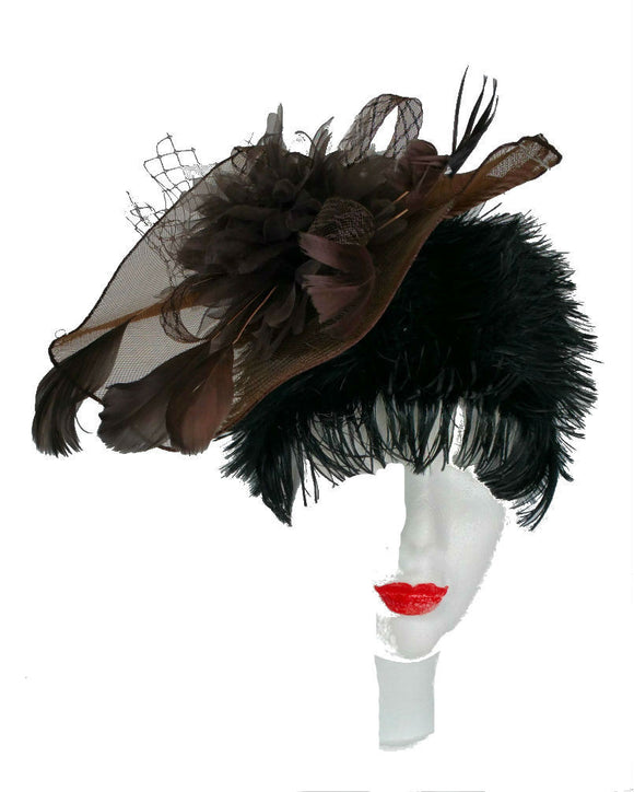 Occasion Fascinator Hat,  Brown 1504