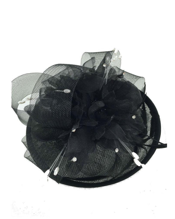 Occasion Floral  Fascinator Hat  Derby Hat, Black  071608