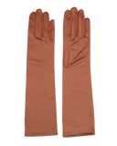 Satin Dress Gloves, 15 inches length