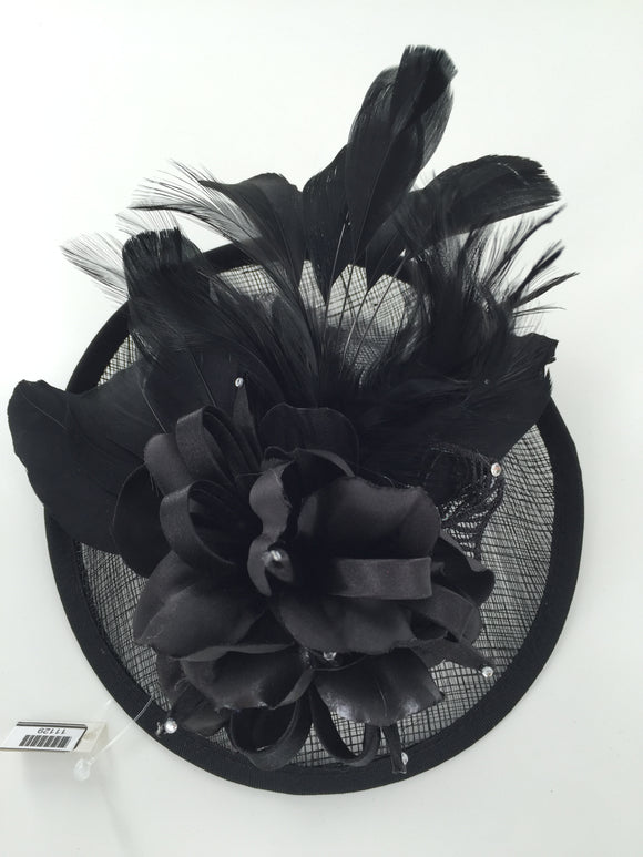Floral  Fascinator Hat  Lady Hat, Black 10716