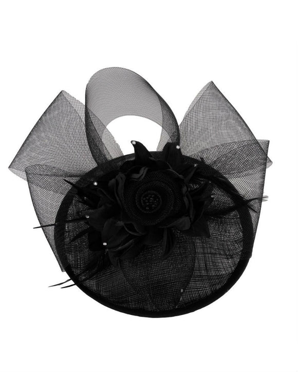Occasion Floral  Fascinator Hat  Derby Hat, Black F101701