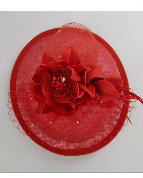 Floral Fascinator Hat, Lady Hat, 18021