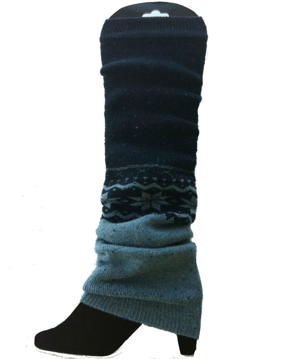 Thick Winter Snowflakes Leg Warmers , 3 Colours