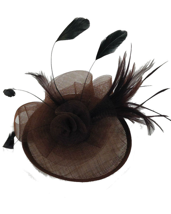 Floral  Fascinator Hat  Lady Hat, Brown 10716