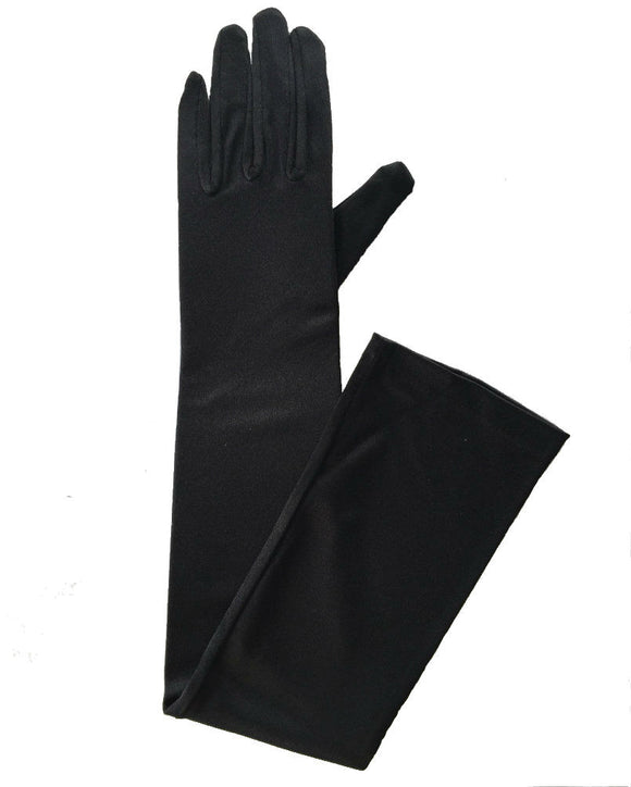 Extra Long Satin  gloves, 23 inches ,more colors