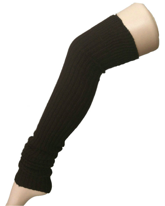Super-Long Ribbed Leg Warmers, 3 Colors