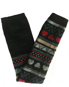 Long Wool Leg Warmers, Boot Socks. 4 Colors