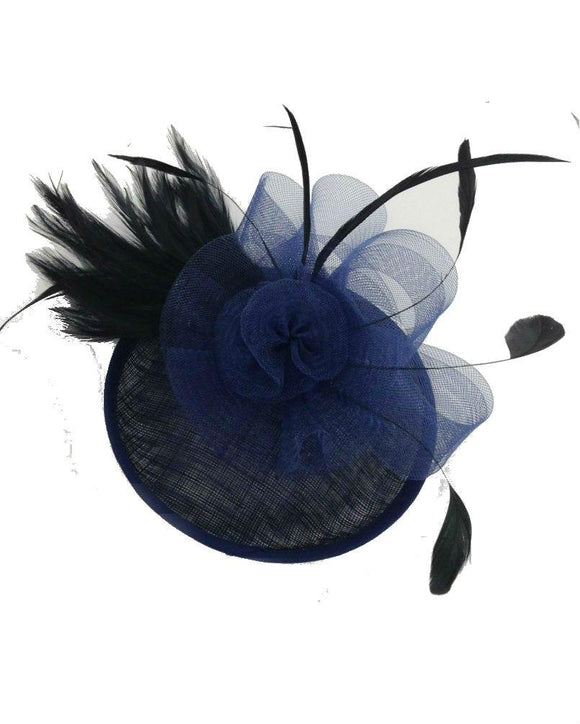 Floral  Fascinator Hat  Lady Hat, Nave Blue 10716