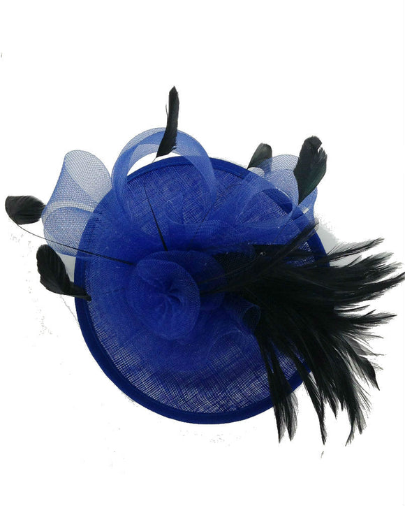 Floral  Fascinator Hat  Lady Hat, Royal Blue 10716