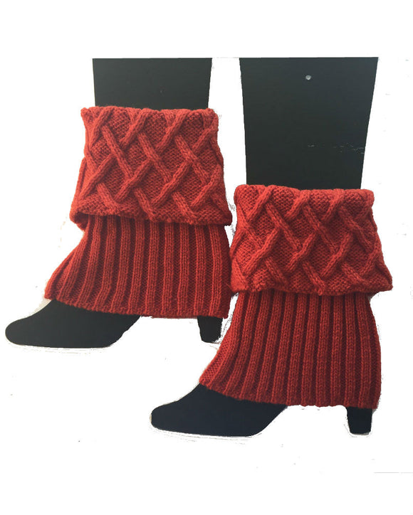 Knitted Boot Cuff,  Legwarmers W1703