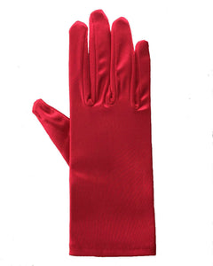 Wrist - length Satin Gloves, More colours.