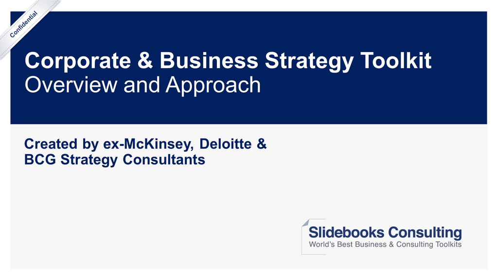 Corporate & Business Strategy Toolkit-Slidebooks Consulting