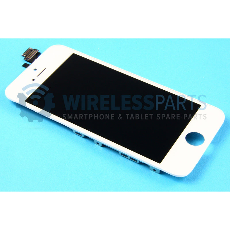 For iPhone 5 - Replacement LCD Screen, White (Original Apple LCD)