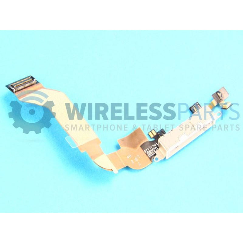 For iPhone 4S - Charging Port, White - OEM