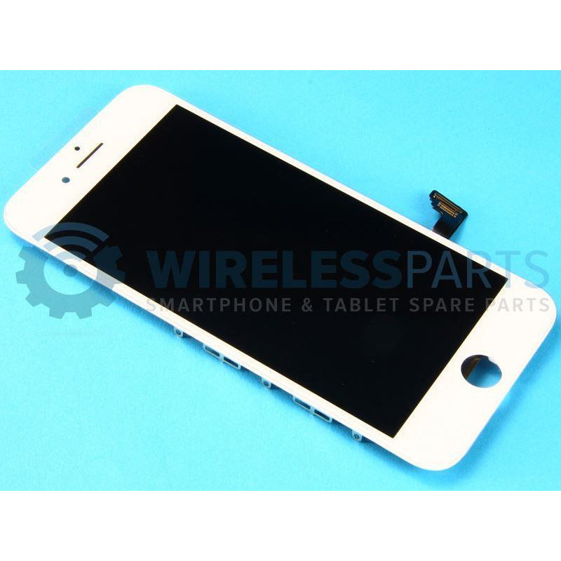 "For iPhone 8 (4.7"") - Replacement LCD Screen - White (High Quality)"