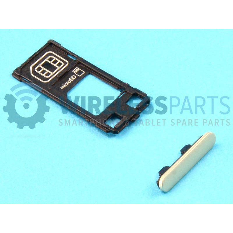 For Sony Xperia X - Replacement SIM And SD Card Tray & Cap (Green) - OEM