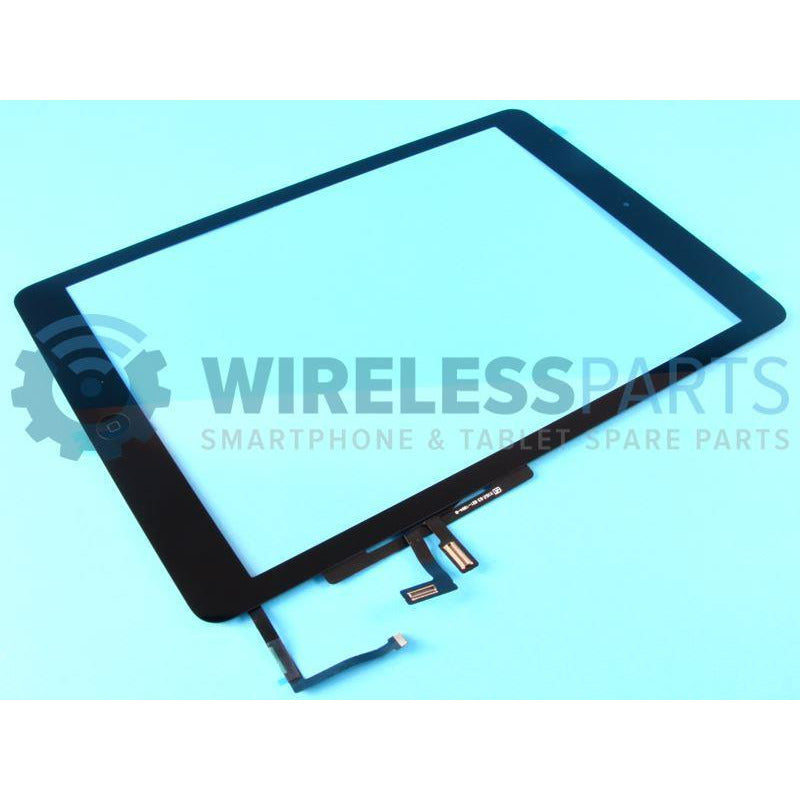 For iPad 2017 - Digitizer - With Home Button, Flex & OEM Adhesive - Black