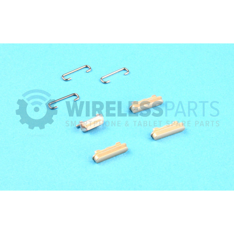 For iPhone 6 - Metal Power, Volume, Silent Button Set - Gold - OEM