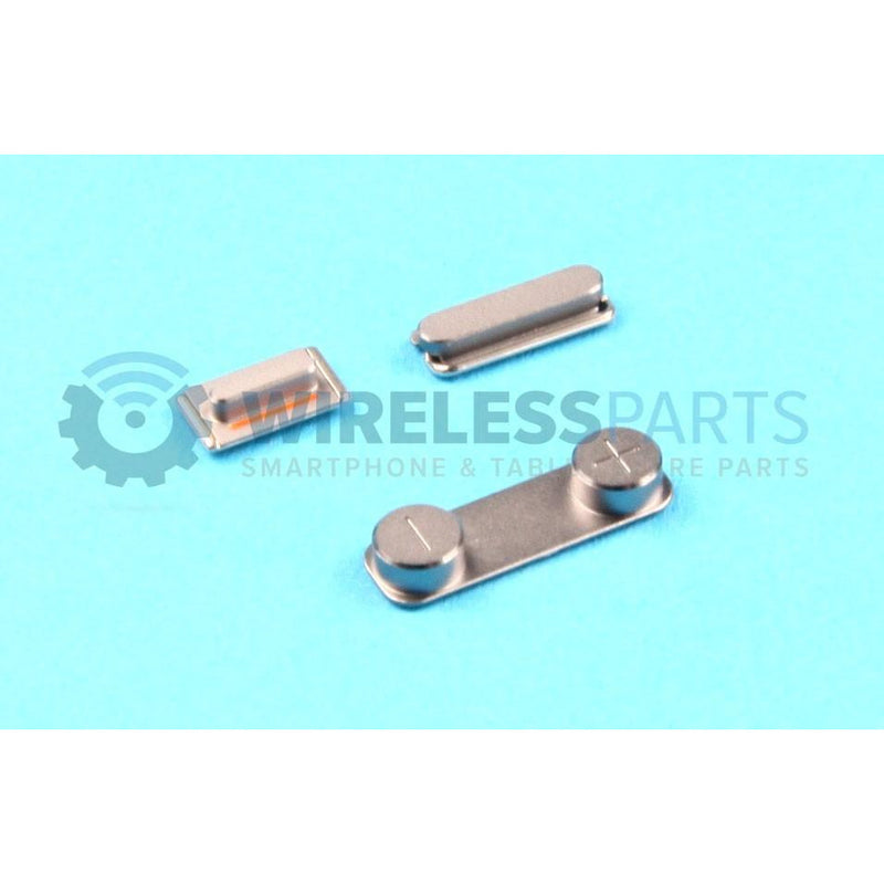 For iPhone 5S / SE - Metal Power, Volume, Silent Buttons, Space Grey - OEM