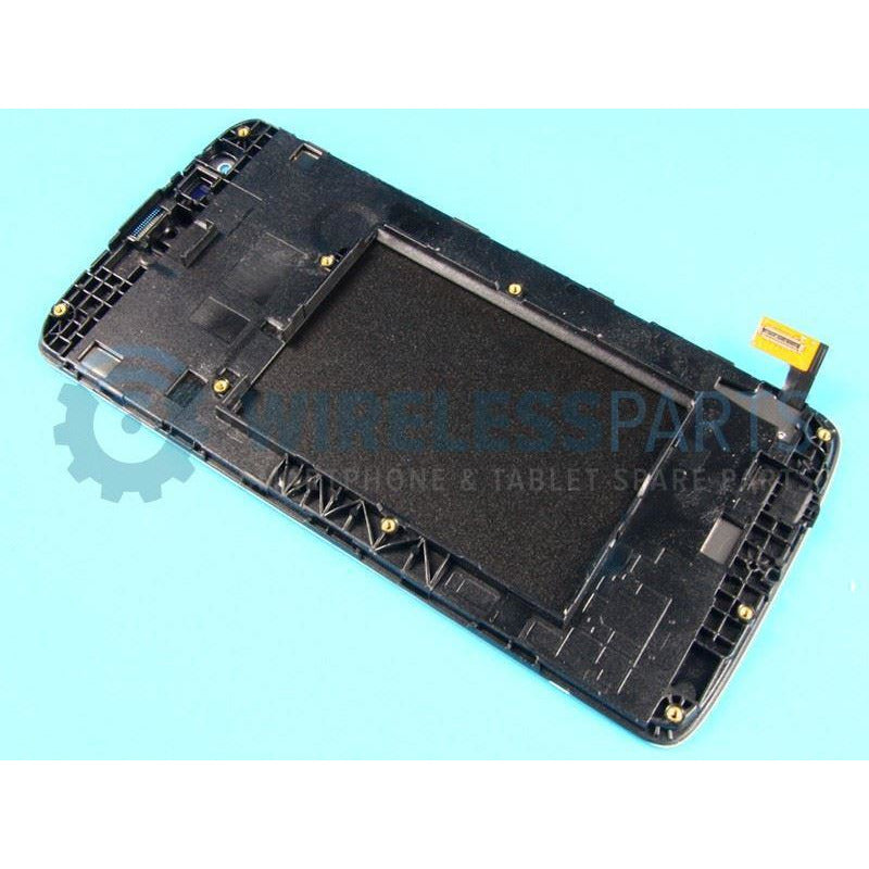 For LG K8 (K350N) - Replacement LCD/Digitizer Screen & Frame - Black