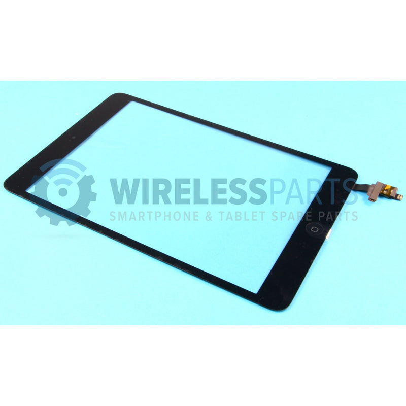 For iPad Mini 1 & 2 - Digitizer Touch Screen with Soldered IC & Home Button - Black