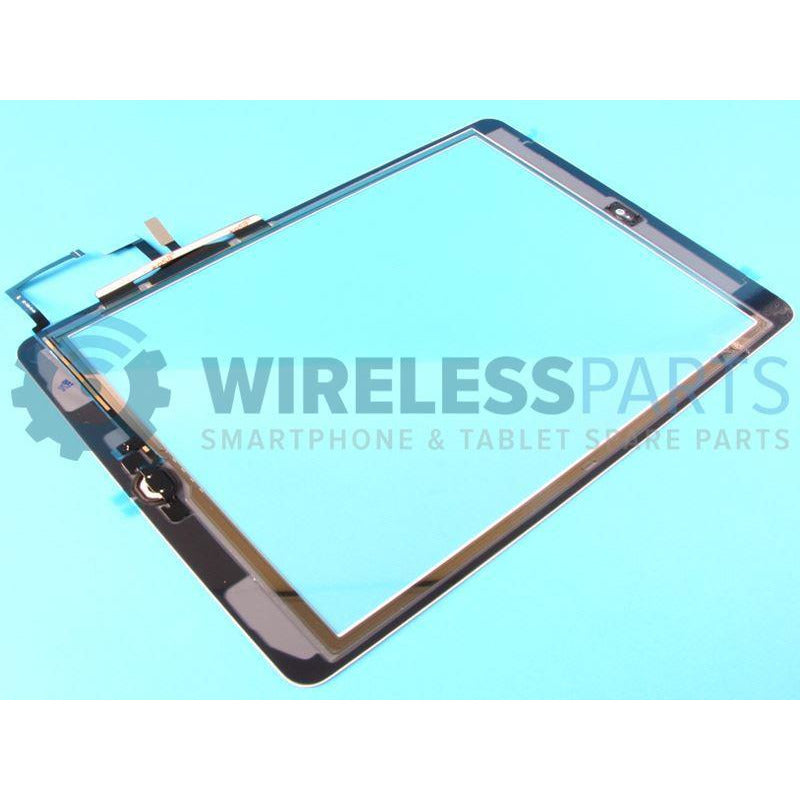 For iPad 2017 - Digitizer - With Home Button, Flex & OEM Adhesive - White